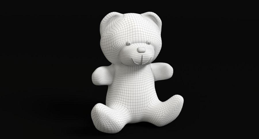 Christmas Bear 2 royalty-free 3d model - Preview no. 12
