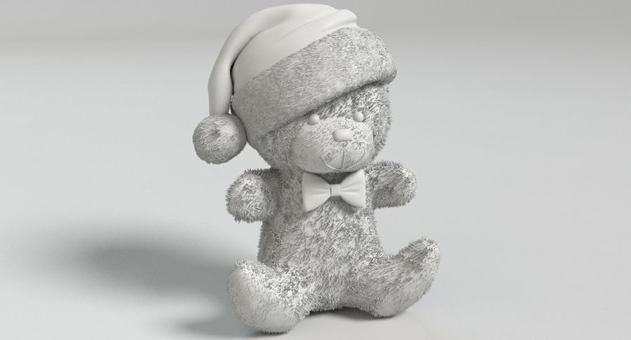 Christmas Bear 2 royalty-free 3d model - Preview no. 9