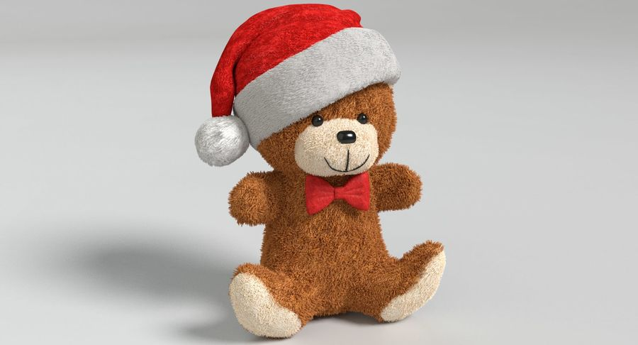 Christmas Bear 2 royalty-free 3d model - Preview no. 3