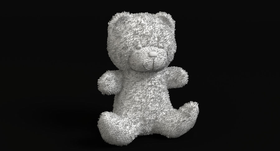 Christmas Bear 2 royalty-free 3d model - Preview no. 11