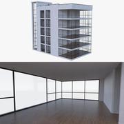 公寓楼三室内装满 3d model