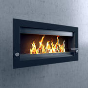 Wall-mounted fireplace 3d model