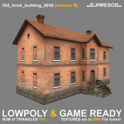 Lowpoly old brick building - old_brick_building_003b.rar 3d model
