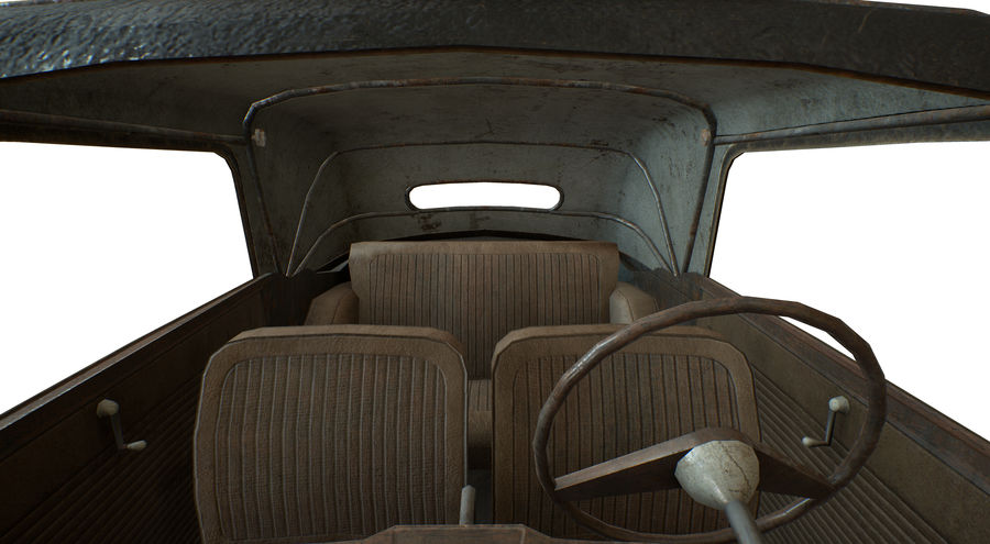 Old rusty german car DKW F8 royalty-free 3d model - Preview no. 23