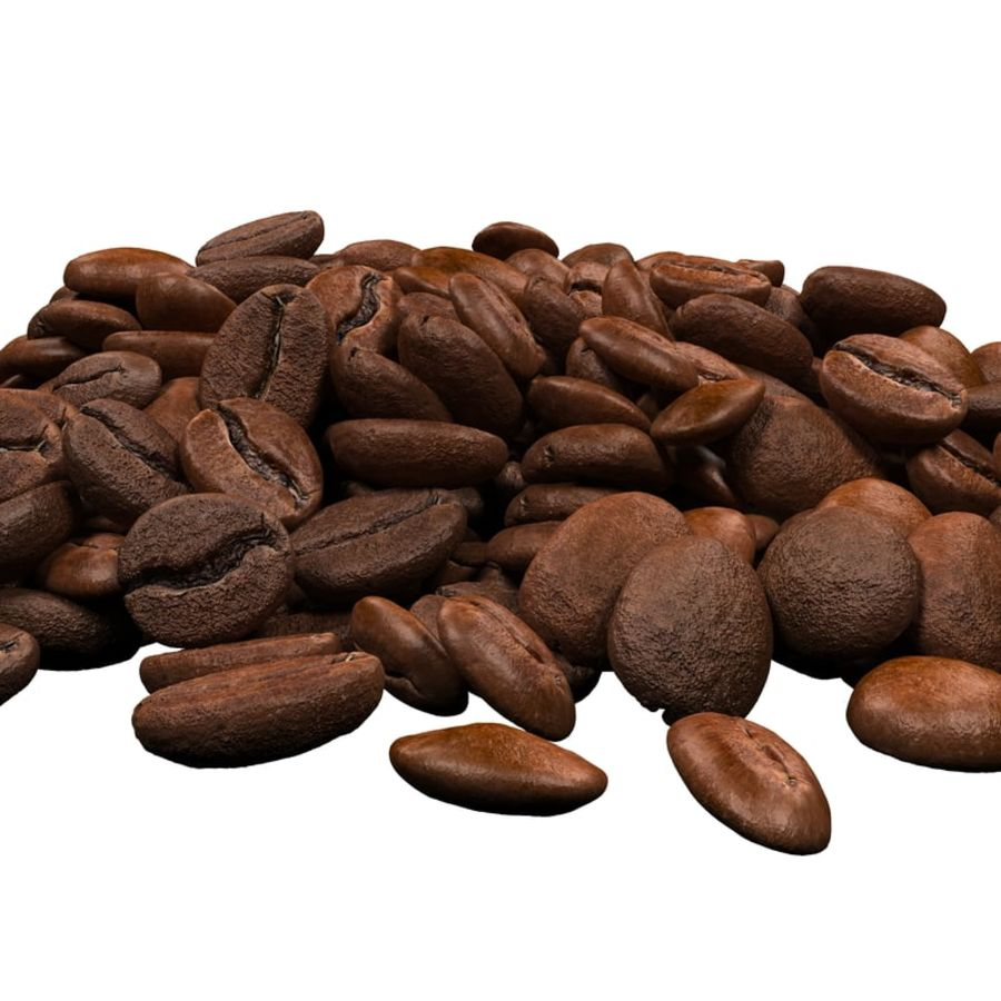 Coffee Beans royalty-free 3d model - Preview no. 8