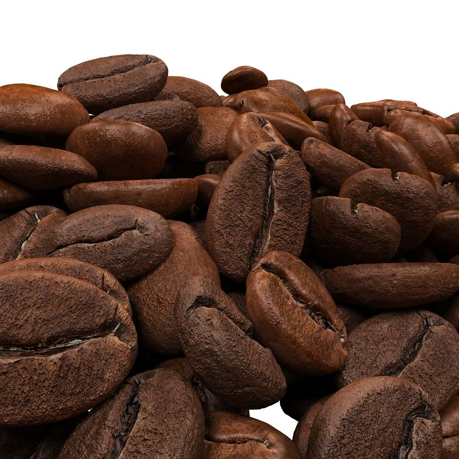 Coffee Beans royalty-free 3d model - Preview no. 4