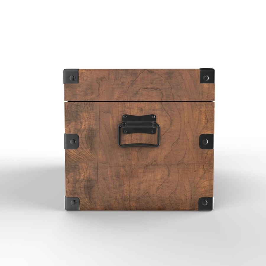 Wooden Chest royalty-free 3d model - Preview no. 4