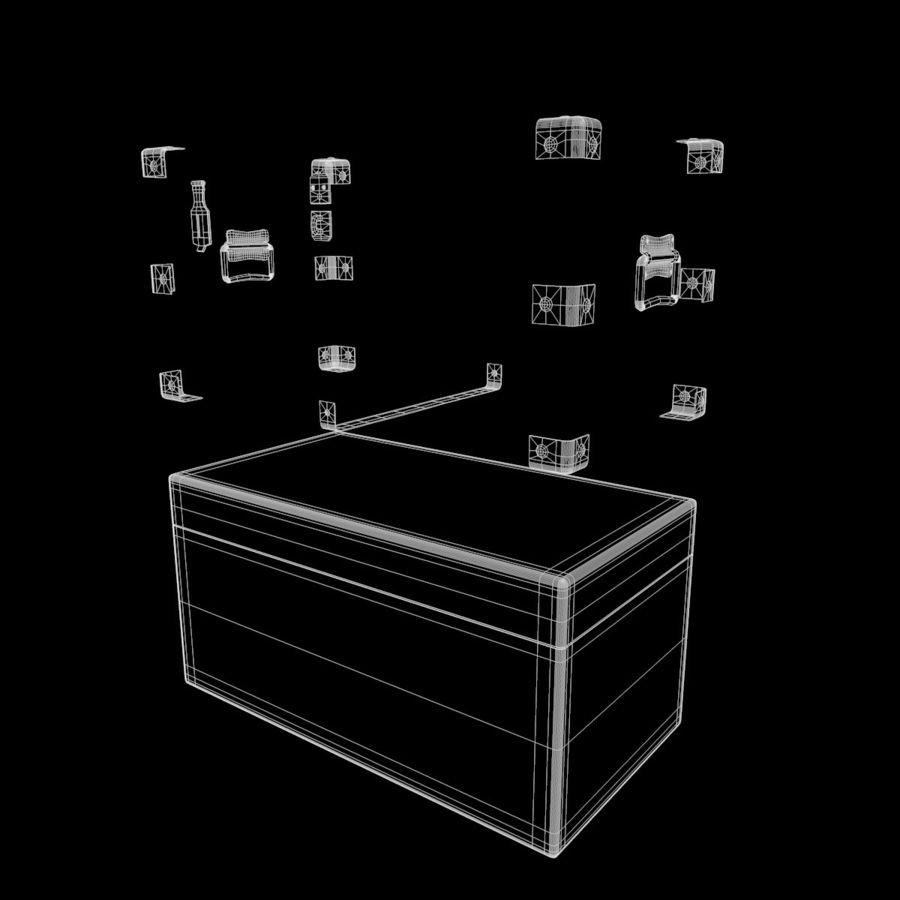 Wooden Chest royalty-free 3d model - Preview no. 11