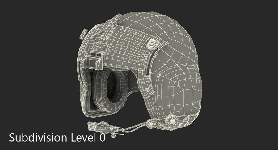 US Helicopter Pilot Helmet royalty-free 3d model - Preview no. 8