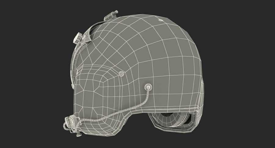 US Helicopter Pilot Helmet royalty-free 3d model - Preview no. 16