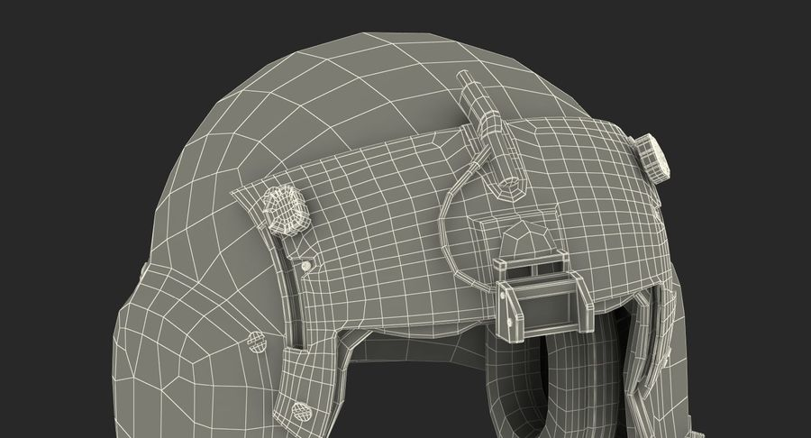 US Helicopter Pilot Helmet royalty-free 3d model - Preview no. 17
