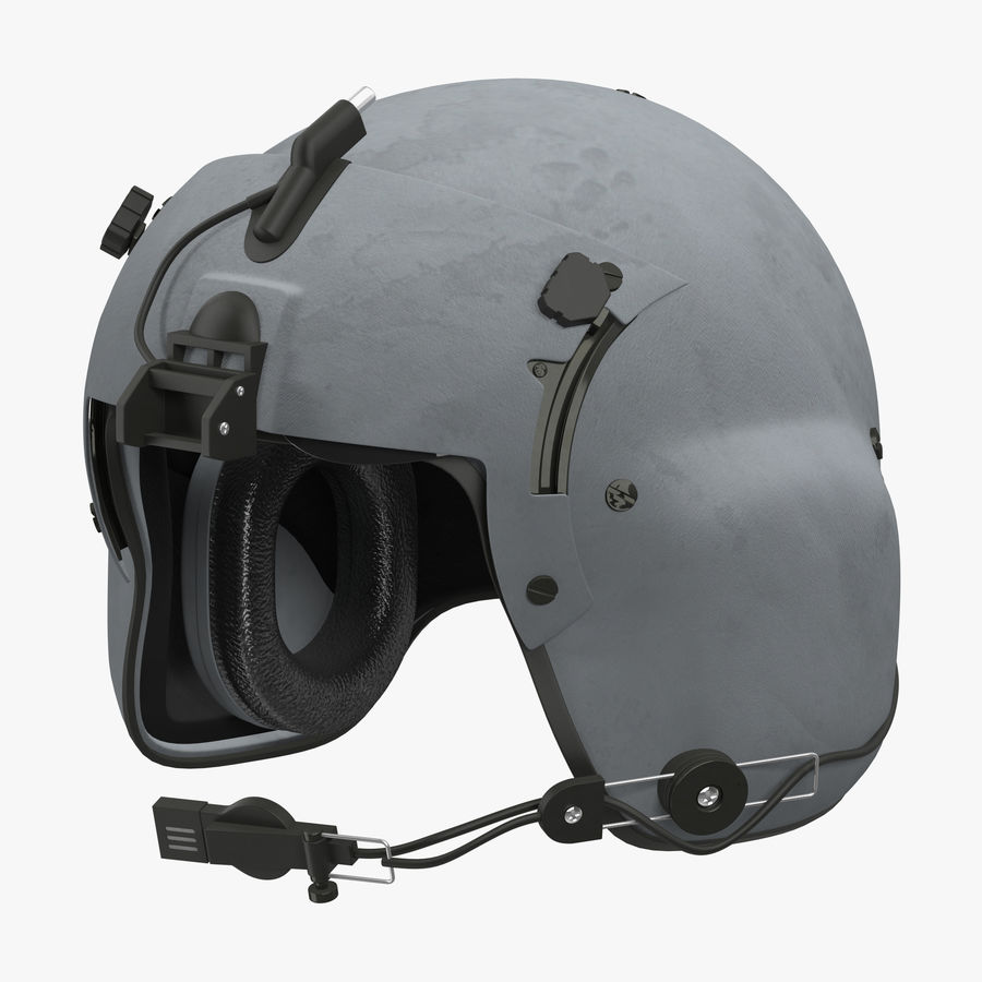 US Helicopter Pilot Helmet royalty-free 3d model - Preview no. 2