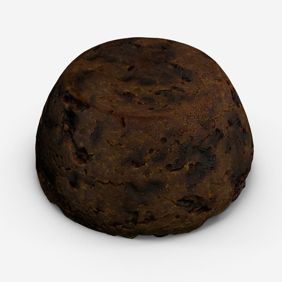 Christmas Pudding royalty-free 3d model - Preview no. 2