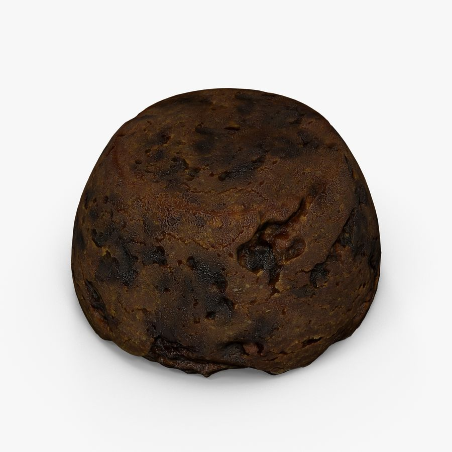 Christmas Pudding royalty-free 3d model - Preview no. 4