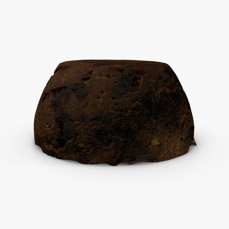 Christmas Pudding royalty-free 3d model - Preview no. 5