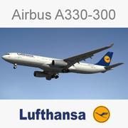 空中客车A330德国汉莎航空公司 3d model