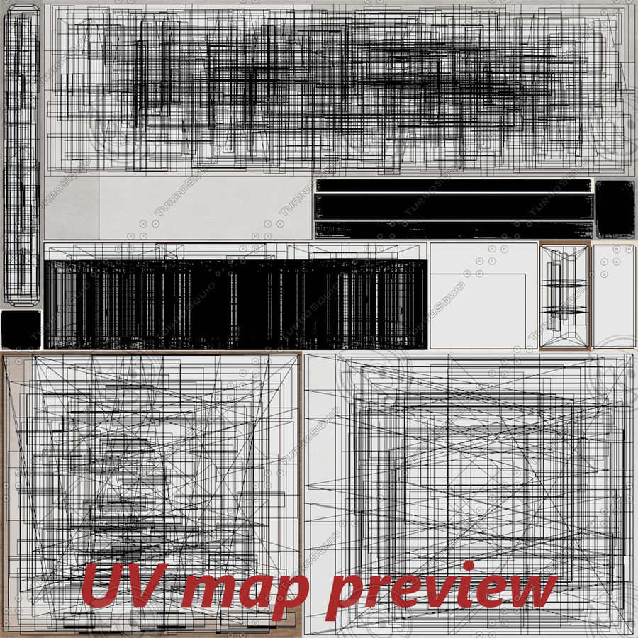 Apartment building one with interior full royalty-free 3d model - Preview no. 25