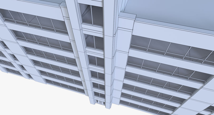 Apartment building one with interior full royalty-free 3d model - Preview no. 14