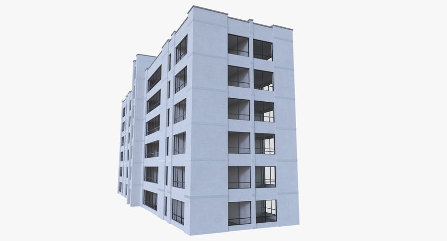 Apartment building one with interior full royalty-free 3d model - Preview no. 4