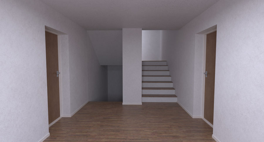 Apartment building one with interior full royalty-free 3d model - Preview no. 10