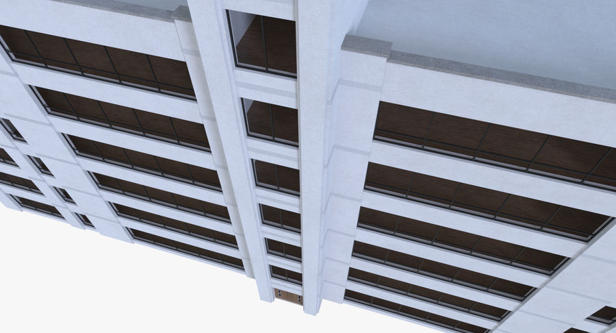 Apartment building one with interior full royalty-free 3d model - Preview no. 3