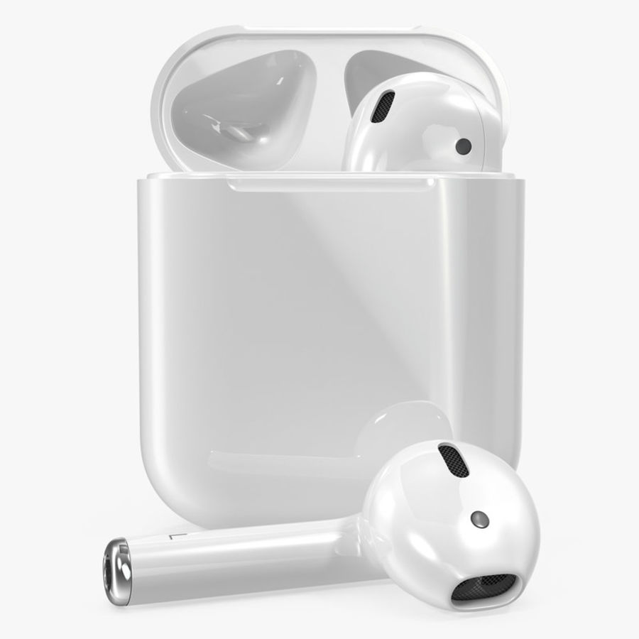 Apple AirPods Set royalty-free 3d model - Preview no. 2