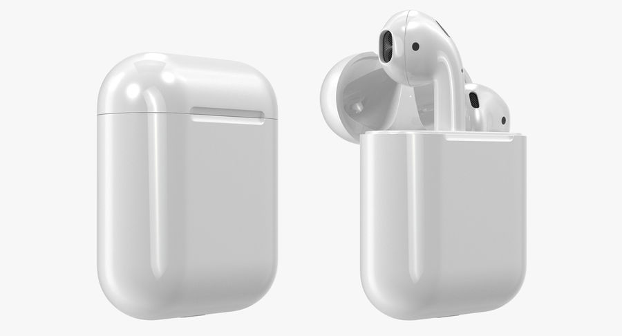 Apple AirPods Set royalty-free 3d model - Preview no. 7