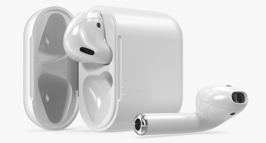 Apple AirPods Set royalty-free 3d model - Preview no. 8