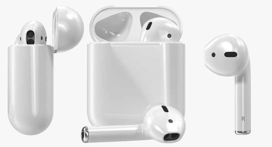 Apple AirPods Set royalty-free 3d model - Preview no. 3