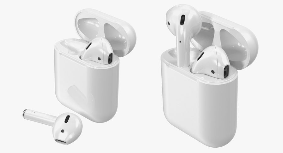 Apple AirPods Set royalty-free 3d model - Preview no. 6