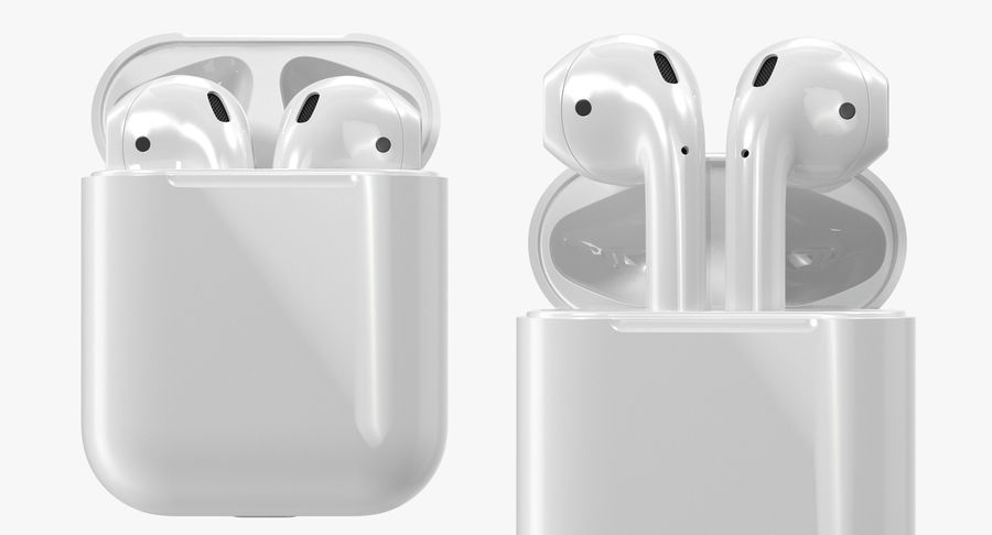 Apple AirPods Set royalty-free 3d model - Preview no. 4