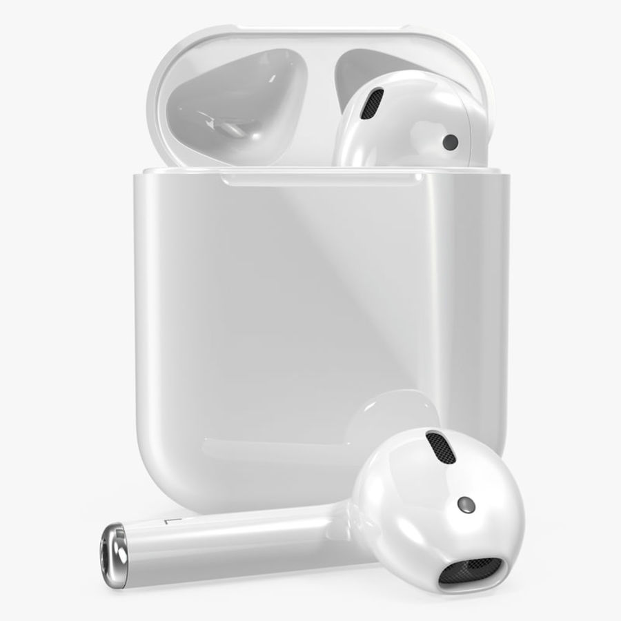 Apple AirPods Set royalty-free 3d model - Preview no. 1