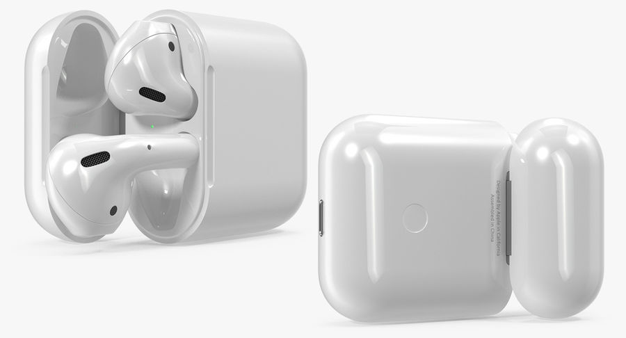 Apple AirPods Set royalty-free 3d model - Preview no. 9