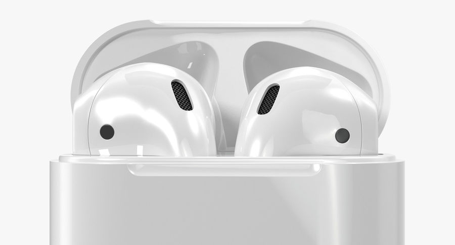 Apple AirPods Set royalty-free 3d model - Preview no. 12