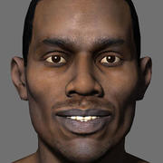 Low Poly Head Male black african 4 3d model