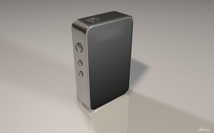 E-cig Box Mod  -  Attomizer royalty-free 3d model - Preview no. 6