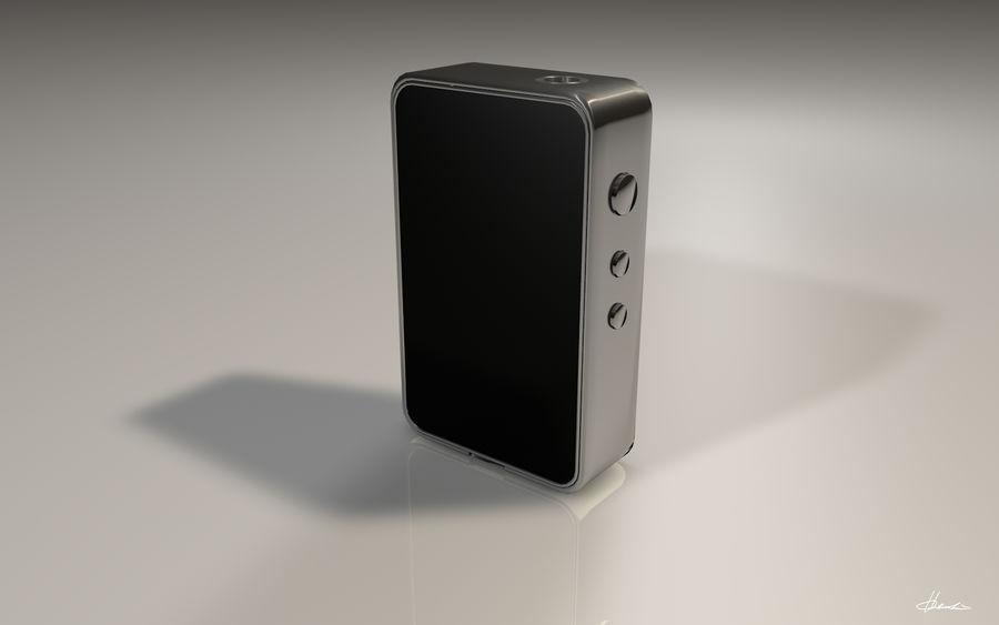 E-cig Box Mod  -  Attomizer royalty-free 3d model - Preview no. 5