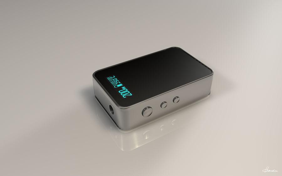 E-cig Box Mod  -  Attomizer royalty-free 3d model - Preview no. 8