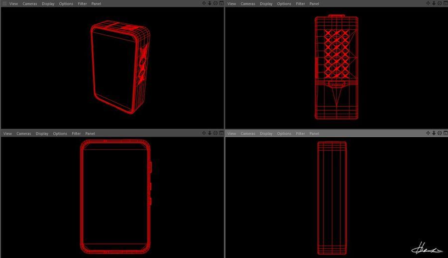 E-cig Box Mod  -  Attomizer royalty-free 3d model - Preview no. 10
