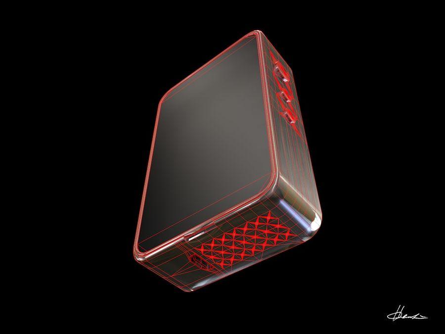 E-cig Box Mod  -  Attomizer royalty-free 3d model - Preview no. 13
