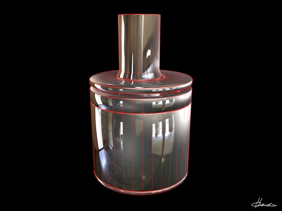 E-cig Box Mod  -  Attomizer royalty-free 3d model - Preview no. 11