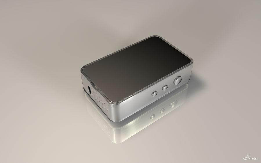 E-cig Box Mod  -  Attomizer royalty-free 3d model - Preview no. 7