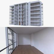Beş katlı apartman binası 3d model
