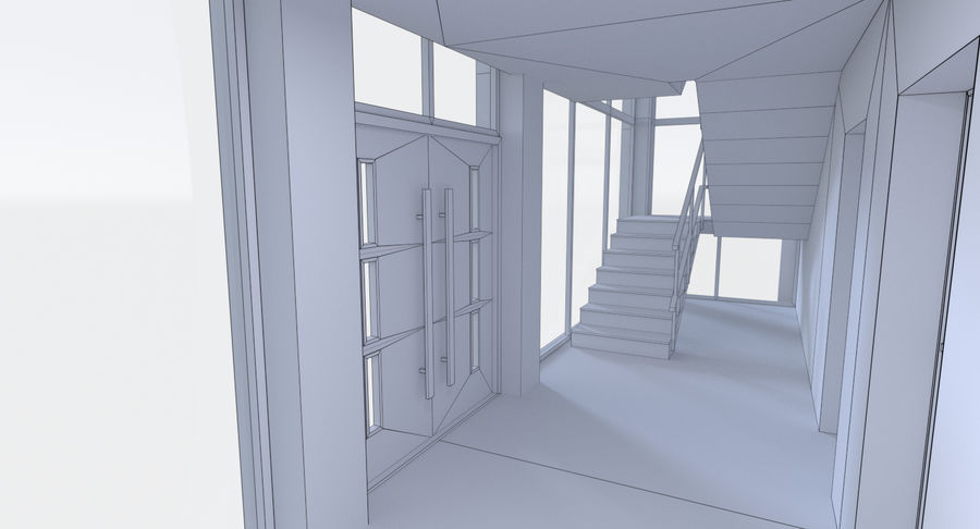 Apartment building five with interior full royalty-free 3d model - Preview no. 23