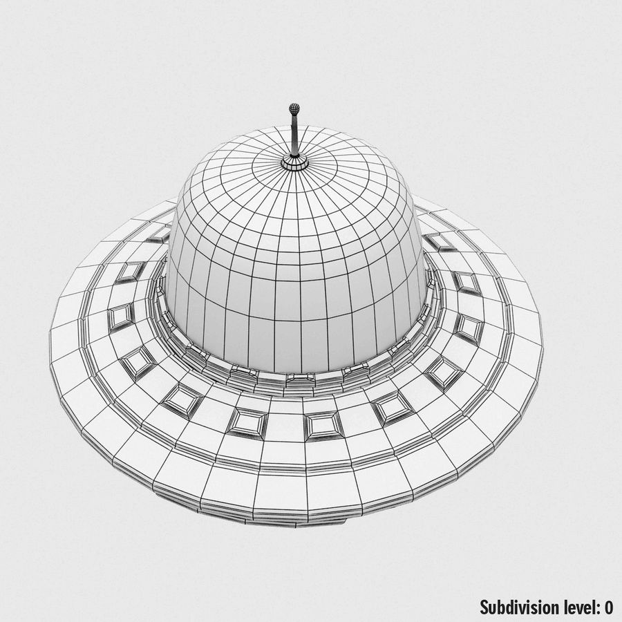 UFO Cartoon Style royalty-free 3d model - Preview no. 18