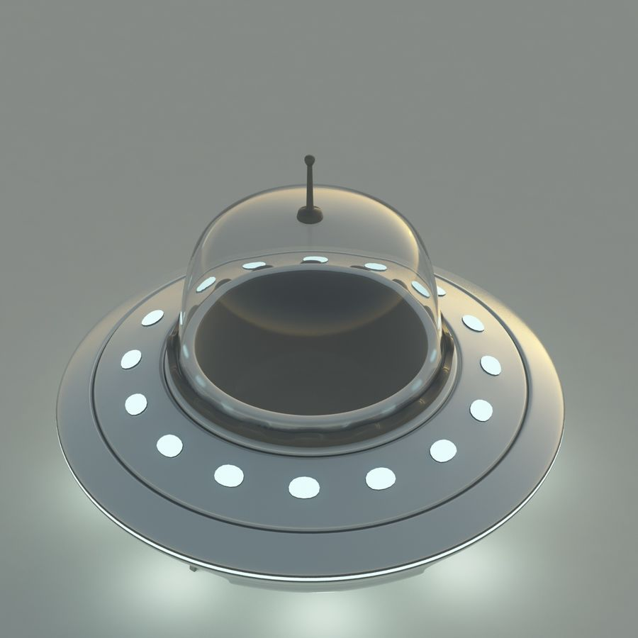UFO Cartoon Style royalty-free 3d model - Preview no. 4