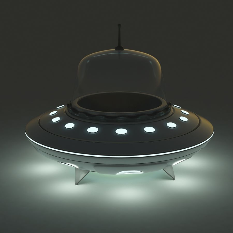 UFO Cartoon Style royalty-free 3d model - Preview no. 6