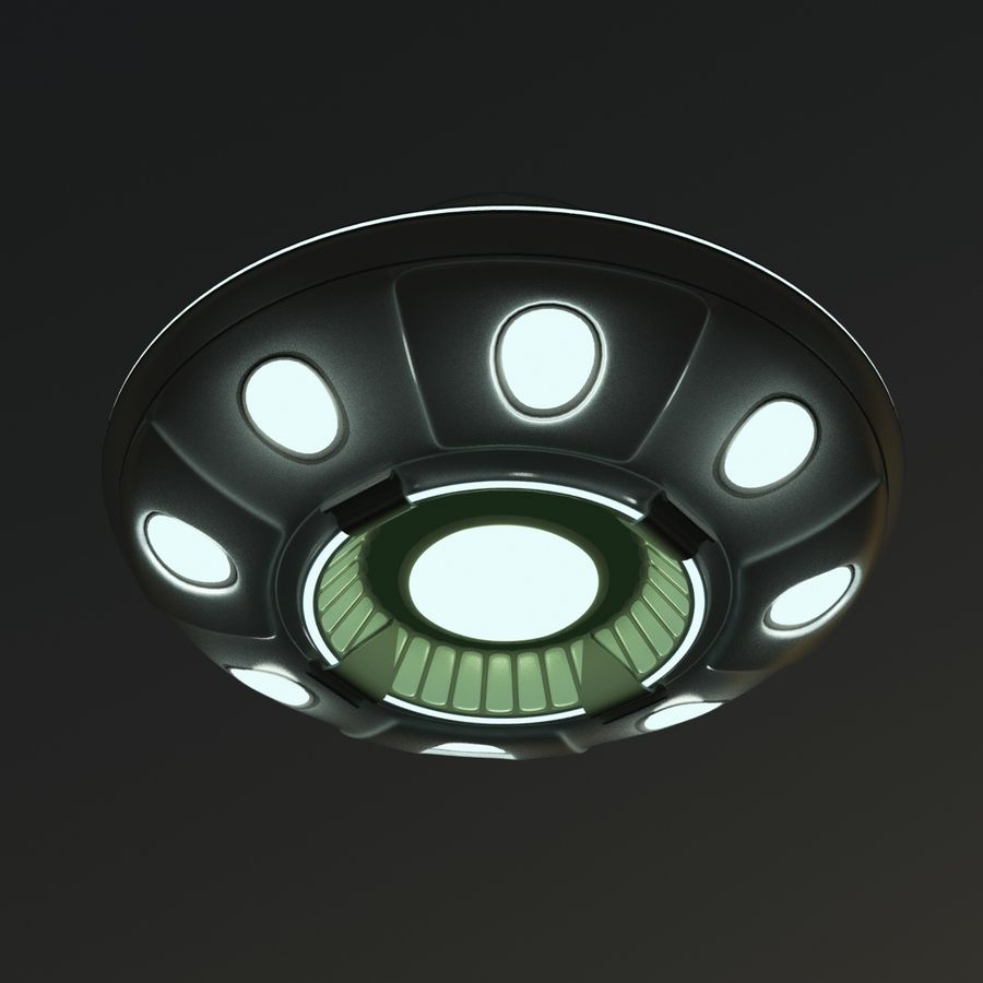 UFO Cartoon Style royalty-free 3d model - Preview no. 10