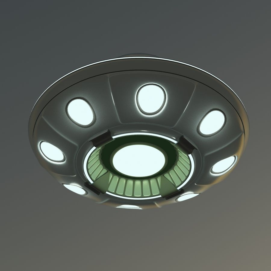 UFO Cartoon Style royalty-free 3d model - Preview no. 9