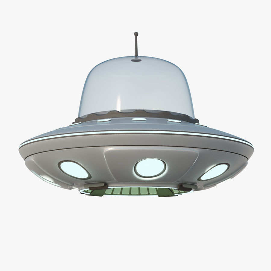 UFO Cartoon Style royalty-free 3d model - Preview no. 1